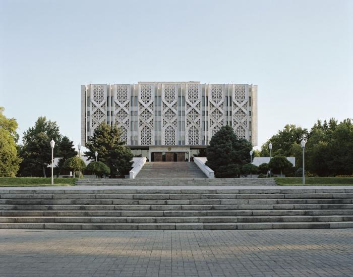 Lenin memorial in Tashkent, Uzbekistan, arch. Y. Rozanov, 1970