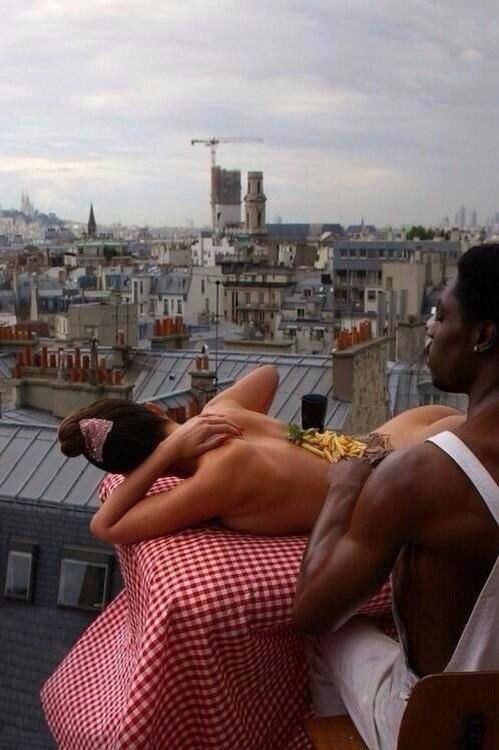 Эдди Мерфи завтракает в Париже, 1985 год