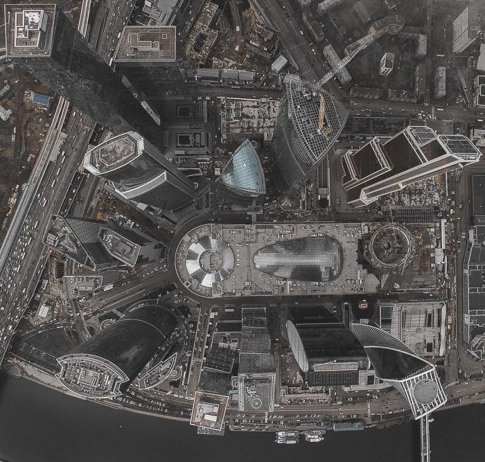 Москва–сити с квадрокоптера
