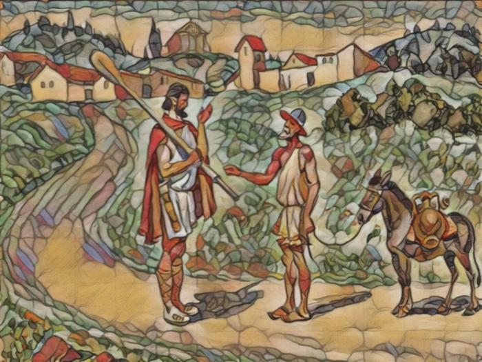 Одиссей с веслом
