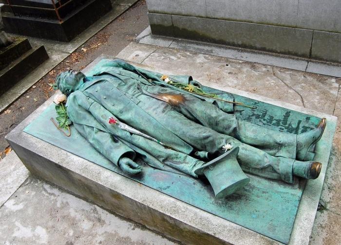 Памятник Виктора Нуара на кладбище Пер-Лашез