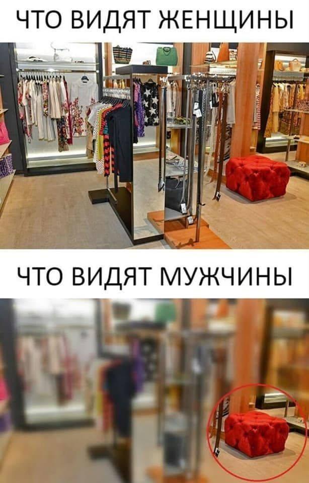 Женщины и мужчины в магазине