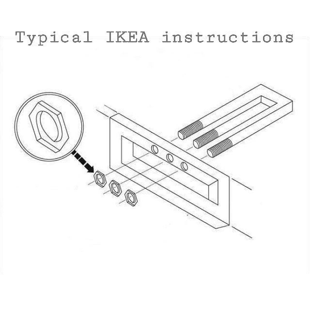 Типичная инструкция из Икеи