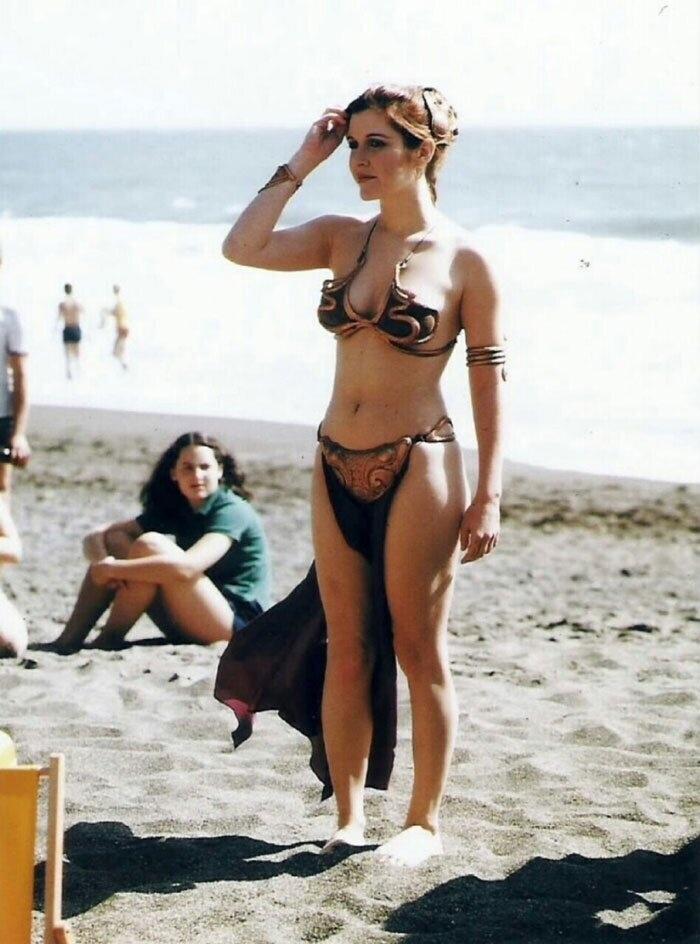Кэрри Фишер в пляжной фотосессии