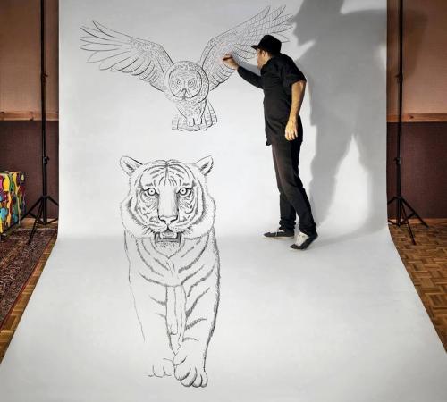 3D-рисунки карандашом