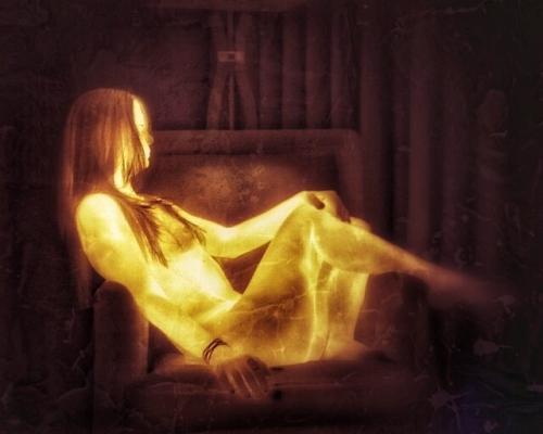 Девушка в тепловизоре
