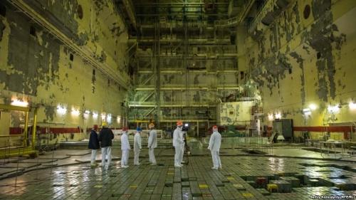 Реакторный зал первого блока Чернобыльской АЭС. Введен в эксплуатацию в 1977 году