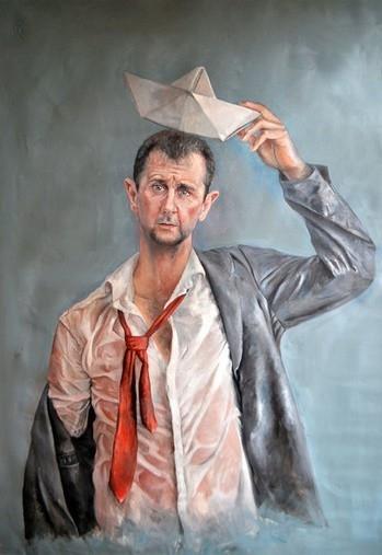 Сирийский художник превратил мировых лидеров в беженцев