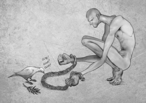 Смелые иллюстрации о современном обществе.