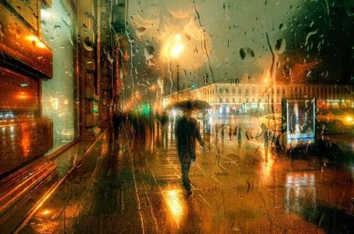 Городские пейзажи в дождь
