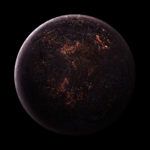 «Космические снимки» днищ старых сковородок.