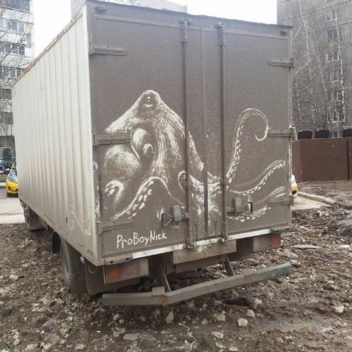 Рисунки на грязи