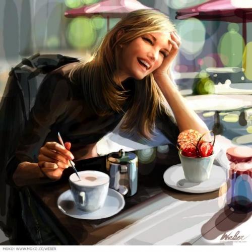 Люди с претензией в кафе
